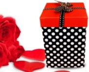 Gift box and hearts for website