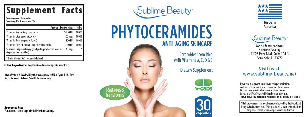 phytoceramide LABEL for Sublime Beauty