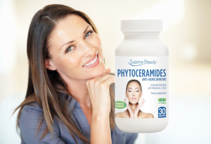 Phytoceramide woman tilts head