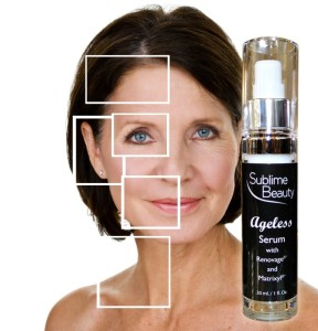 Renovage focus areas mature model with Ageless serum