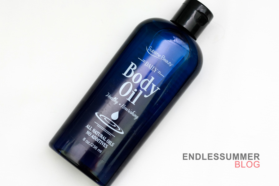 Daily Body Oil on Endless Summer blog