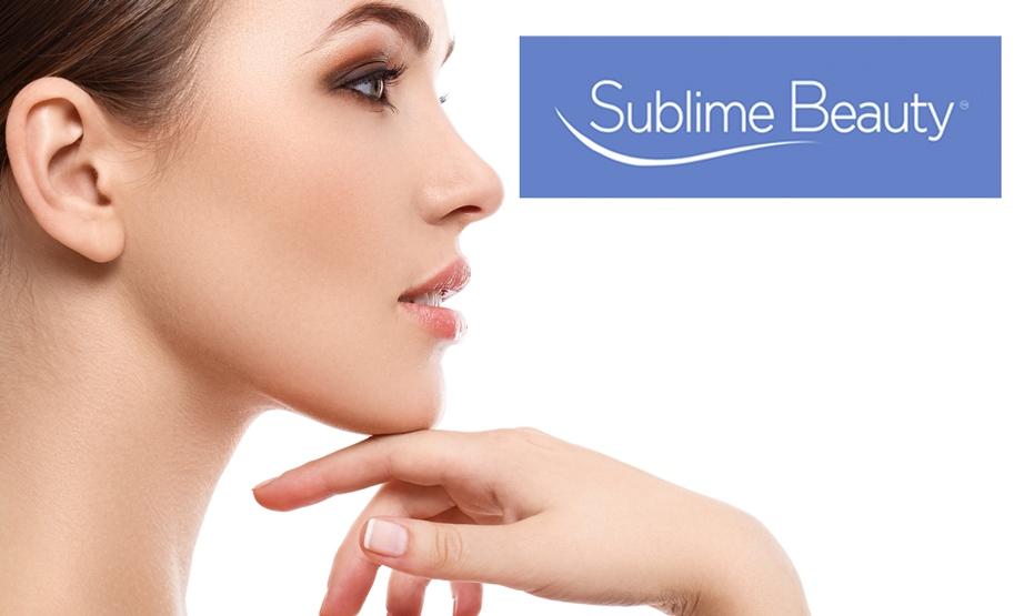 Sublime Beauty logo and model
